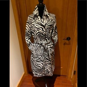 Anne Klein, M, Zebra print, thick polished cotton